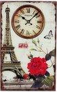 """Laikrodis sieninis """"Paryžius"""" W7666 stiklinis"""