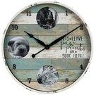 Laikrodis sieninis su 3 nuotraukomis 9 x 9 cm W7937 Viddop