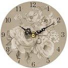 Laikrodis sieninis su baltų rožių piešiniu 14,5x14,5x3,5 cm 114193