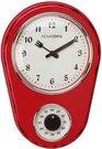 Laikrodis sieninis virtuvinis raudonas su laikmačiu H:32 W:22 D:5 cm W9756R