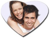 "Magnet with photo ""Heart"" ( 65x 60mm)"