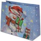 Maišelis dovanoms Kalėdiniu piešiniu 26,5x33,5x13 cm 106717 kld