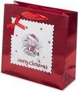 "Maišelis dovanoms ""Merry christmas"" 20x20x8 cm 125408 KLD"