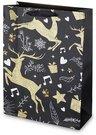 Maišelis dovanoms su elnių piešiniu 40x30x12 cm 135338 KLD