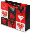 Maišelis dovanų pakavimui su širdelėmis 20x25x8 cm 104051 zzz ddm