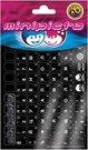 Minipicto keyboard sticker RUS/ENG KB-RUS/US-UNI02BLK, black/white/purple