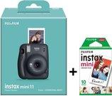 Momentinis fotoaparatas instax mini 11 Charcoal Gray+instax mini glossy (10pl)