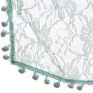 Newborn Bobble Lace Wrap Teal BLWT 50 x 70 cm