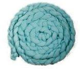 Newborn Mohair Wool Nest Teal MWNT 300 x 6 cm