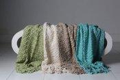 Newborn Tassel Blanket Teal TBT 127 x 178 cm