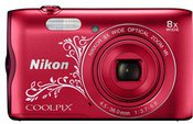 Nikon Coolpix A300 (raudonas ornament)
