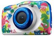 Nikon Coolpix W100 Backpack kit Compact camera, 13.2 MP, Optical zoom 3 x, Digital zoom 2 x, ISO 1600, Display diagonal 6.86 cm, Wi-Fi, Focus 0.05m - ∞, Video recording, Lithium-Ion (Li-Ion), Multicolour