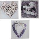 Nuotrauka ant tekstilės su širdele H:28 W:28 D:1 cm 61719 (3-jų rūšių)