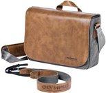 Olympus OM-D Messenger Leder Tasche inkl. Gurt