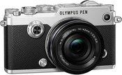Olympus PEN-F + 14-42mm f/3.5-5.6 EZ (Sidabrinis)
