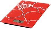 Omega kitchen scale OBSKR, red