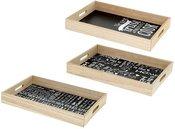 Padėklas serviravimo iš bambuko 45x30x5,5 cm 871125211891 (3 rūšys)
