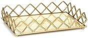 Padėklas su marmuro imitacija aukso spl. 34*22*7.5cm SAVEX