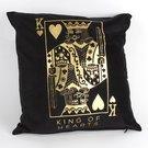 Pagalvėlė juodos/aukso spalvos Širdžių karalius HM1303 H:32 W:34 D:11 cm