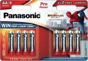 Panasonic Pro Power battery LR6PPG/8B (6+2) S-M