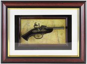 Paveikslas Pistoletas dekoratyvinis 29x39 YM1567