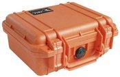 Peli Protector 1200 orange with pre-cut foam