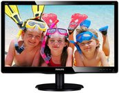 "PHILIPS 200V4LAB2/00 19.5"" W-LED/16:9/1600x900/200cdm2/5ms /H-90,V-65/10M:1/VGA,DVI-D/Vesa/Speakers/Black"