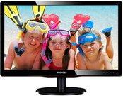 "PHILIPS 200V4QSBR 19.5"" LED/16:9/1920x1080/250cdm2/8ms /H-178,V-178/10M:1/VGA,DVI-D/Tilt,Vesa/Glossy Black"