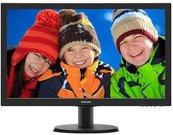 """PHILIPS 243V5LHAB 23.6"""" LCD/16:9/1920x1080/250cdm2/5ms/H-170,V-160/10M:1/VGA,DVI-D,HDMI, black"""