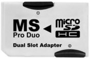 Platinet memory card adapter MS Pro Duo / 2x microSDHC (40801)
