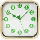 Platinet wall clock Morning, green (42988)