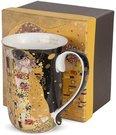 Puodelis arbatai Klimt paveikslo Bučinys motyvais 12x12,5x8,5 cm 130955