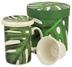 Puodelis arbatai su lapų piešiniu dėžutėje 320 ml 5902693915140