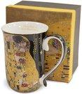 Puodelis Klimt paveikslo Bučinys motyvais 12x12,5x8,5 cm 112826