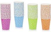 Puodukai vienkartiniai popieriniai 20 vnt. 9x7.8x5.5 cm AM3041 (4 spalvų) ddm