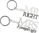 Raktų pakabukai porai Mr Right ir Mis Always right H:12 W:3 cm WG500 vest