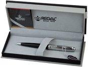 """Rašiklis """"Jennings"""" juodas/sidabro spalvos RE90D dėžutėje"""