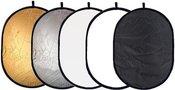 Reflektorius atšvaitas 5 in1 92x122 cm