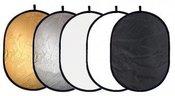Reflektorius atšvaitas 5in1 105 x 150 cm