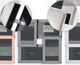 Rėmelis INNOVA PI07930 STAINLESS STEEL Multi Opening Frame Gunmetal rėmelis 4x10x15/6x4