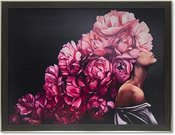 Reprodukcija 1705900 su rėmu 6045/6913 Pasipuošusi raudonomis gėlėmis 80x60