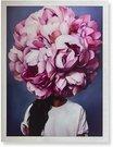 Reprodukcija 1705901 su rėmu 6006/6913 Pasipuošusi rožinėmis gėlėmis 60x80