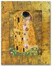 Reprodukcija 47x57cm ant tekstilės Klimt. Bučinys 80319, G06670
