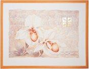 Reprodukcija 7415 su rėmu 1203014 be stkl 60*80 Orchidėja balta