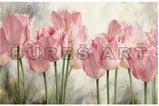 Reprodukcija ant drobės ir porėmio 1707112 Rožinės tulpės 70x100