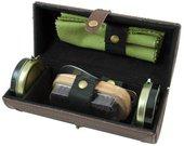 Rinkinys batų priežiūrai odinėje dėžutėje ZM04C H:17, W:7,5, D:7,5 cm.