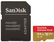 SanDisk microSDXC 100MB A1 64GB Extreme Plus SDSQXBG-064G-GN6MA