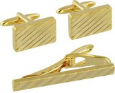 Sąsagos+kaklaraiščio segtukas aukso spalvos HM1196 H:1 W:2 D:2 cm