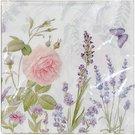 Servetėlės popierinės gėlių piešiniu 16,5x16,5 cm 107691 DDM