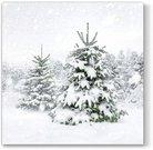 Servetėlės popierinės su eglučių piešiniu 33x33 cm 127158 KLD